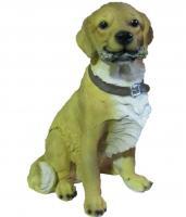 """Садовая фигура """"Собака с ошейником"""" В-37см"""